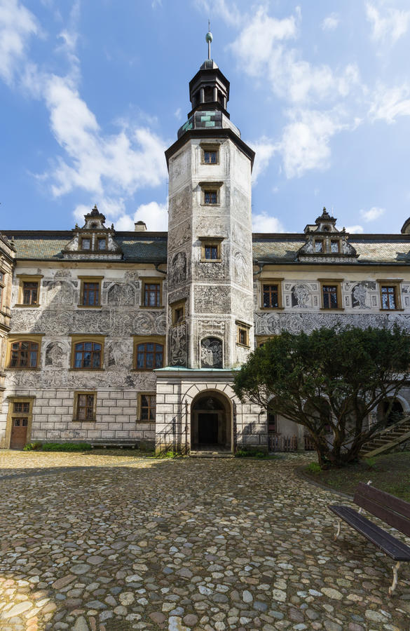 Castle Frydlant. The courtyard of the castle Frydlant in the Czech Republic, Europe royalty free stock photography