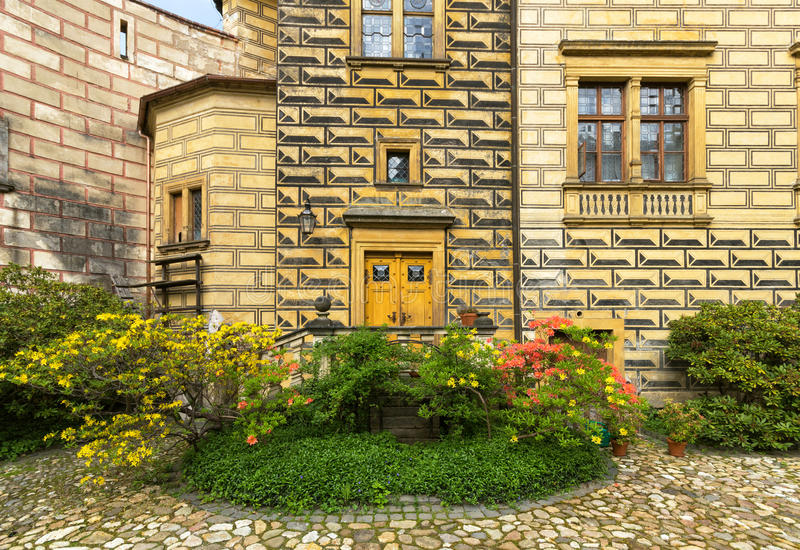 Castle Frydlant. The courtyard of the castle Frydlant in the Czech Republic, Europe stock photos