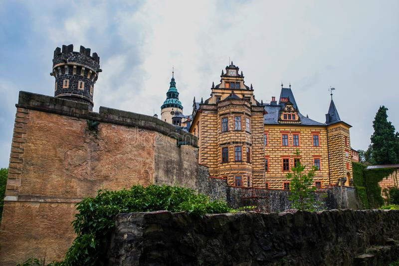 Castle Frydlant, Czech republic. Medieval Castle Frydlant in the north of Czech republic stock images