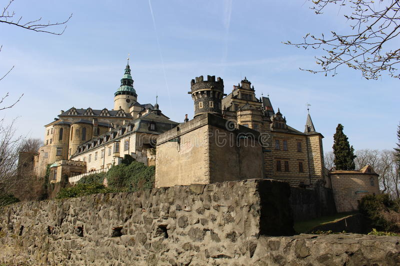 Castle Frydlant. General view of the Castle Frydlant royalty free stock photography