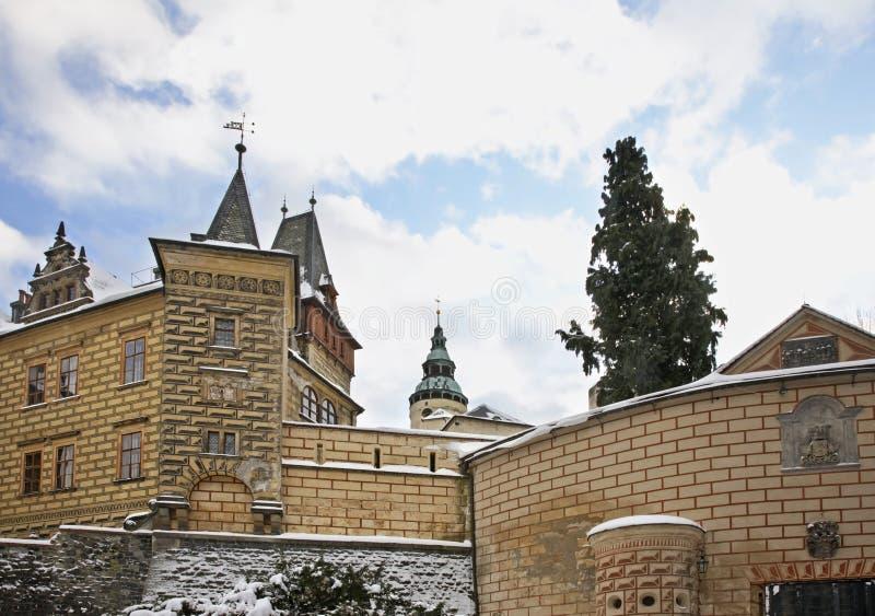Castle in Frydlant v Cechach. Czech Republic.  royalty free stock photography