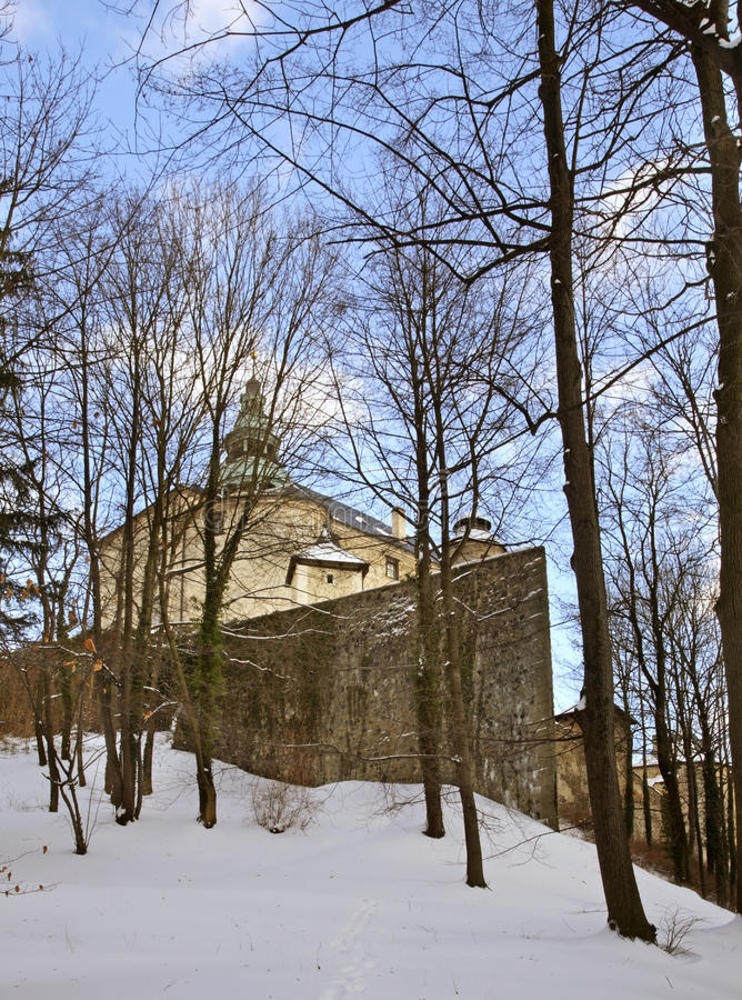 Castle in Frydlant v Cechach. Czech Republic.  stock photo