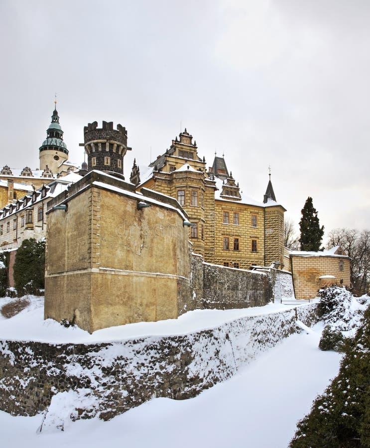 Castle in Frydlant v Cechach. Czech Republic.  stock photos
