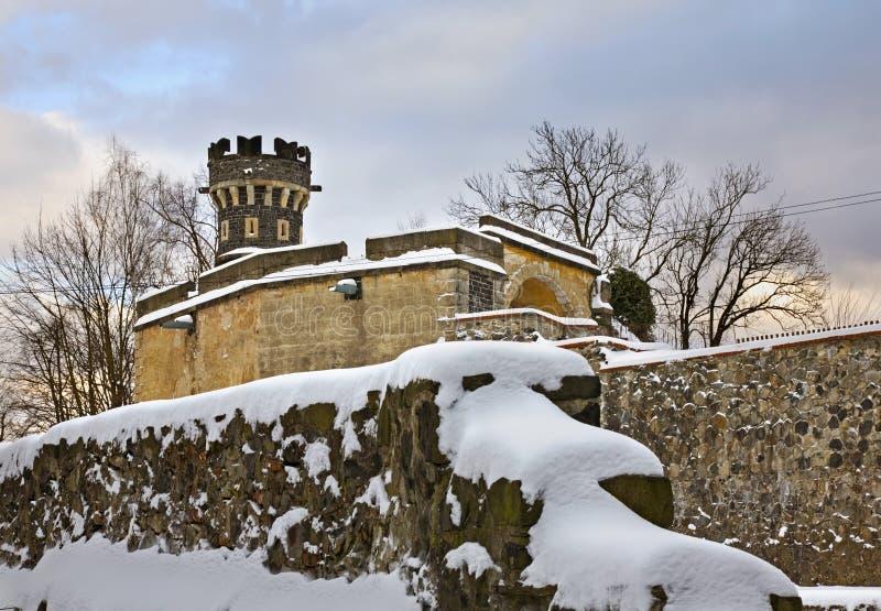 Castle in Frydlant v Cechach. Czech Republic.  stock images