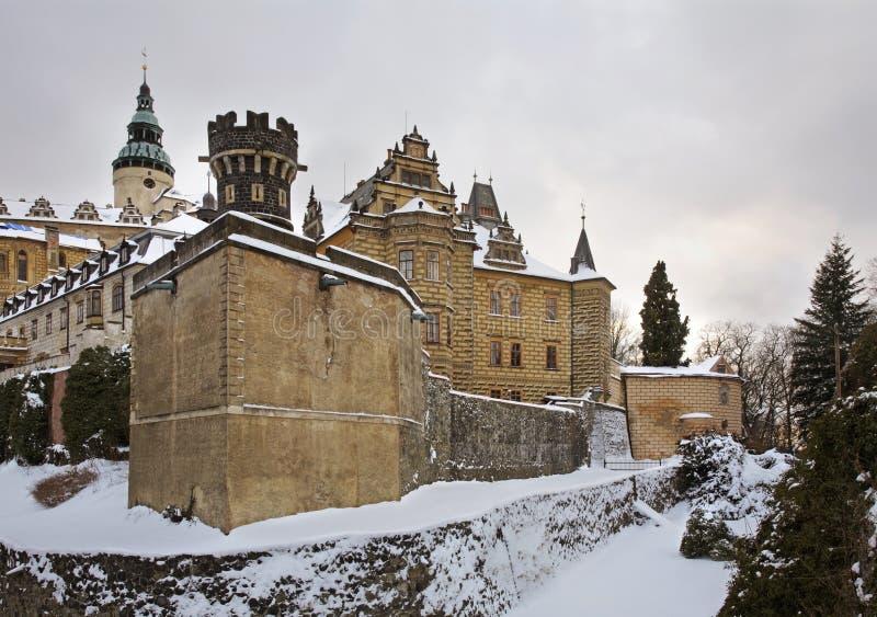 Castle in Frydlant v Cechach. Czech Republic.  royalty free stock image