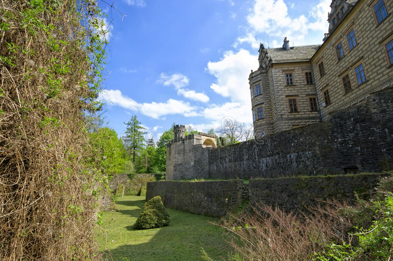 Castle Frydlant. Walls of the castle Frydlant in the Czech Republic royalty free stock photography