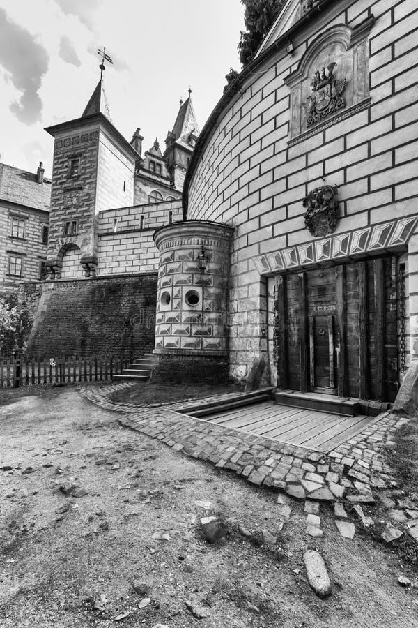 Castle Frydlant. Walls of the castle Frydlant in the Czech Republic stock photography