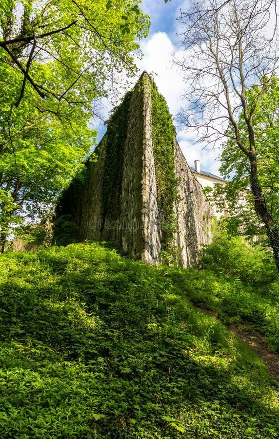 Castle Frydlant. Walls of the castle Frydlant in the Czech Republic stock image