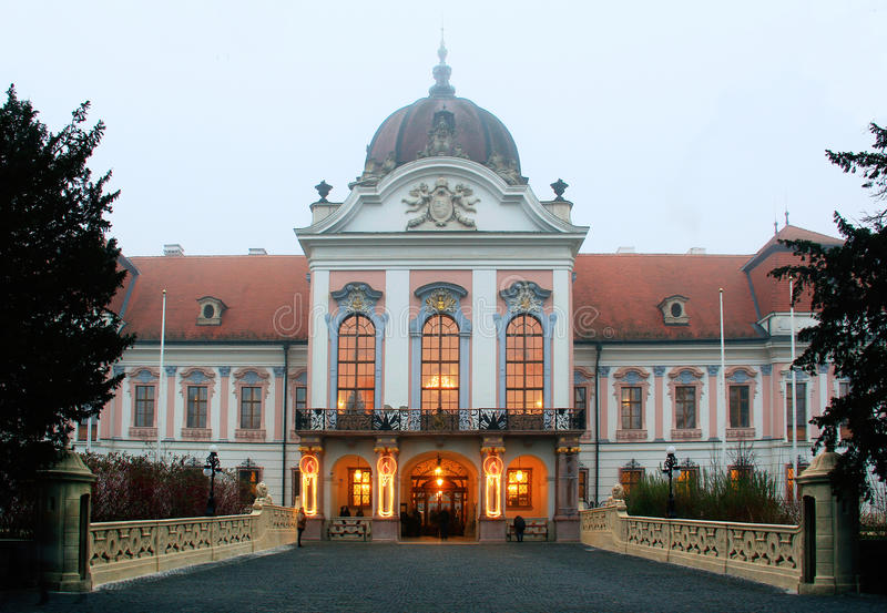Castle Gödöllő στην Ουγγαρία στοκ εικόνες με δικαίωμα ελεύθερης χρήσης