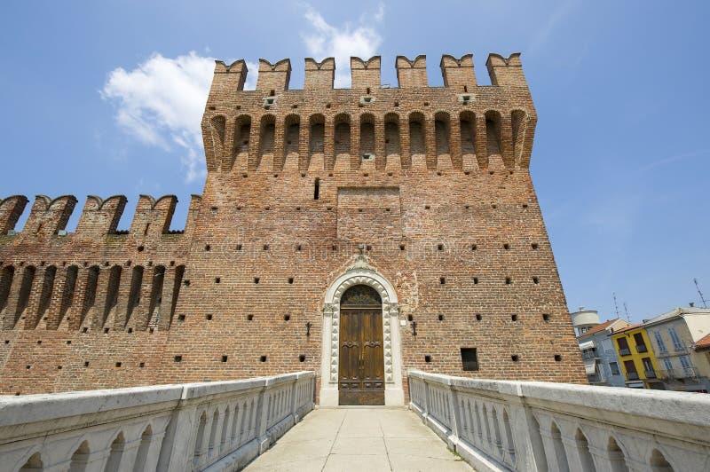 Castle of Galliate stock photo