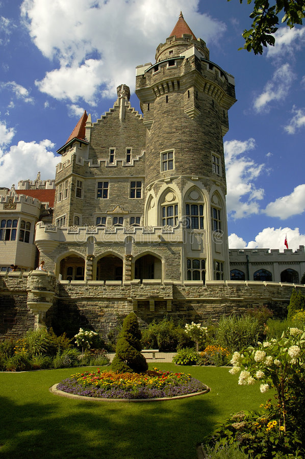 Castle and Garden royalty free stock image