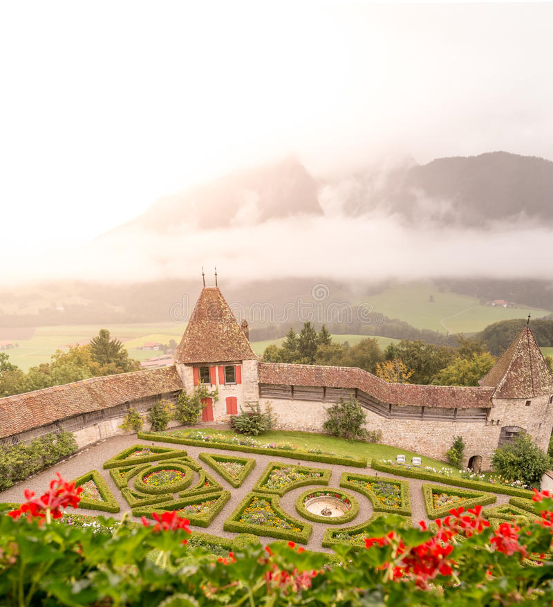 Castle Gardens royalty free stock photography