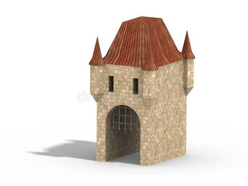 Castle gate stock illustration