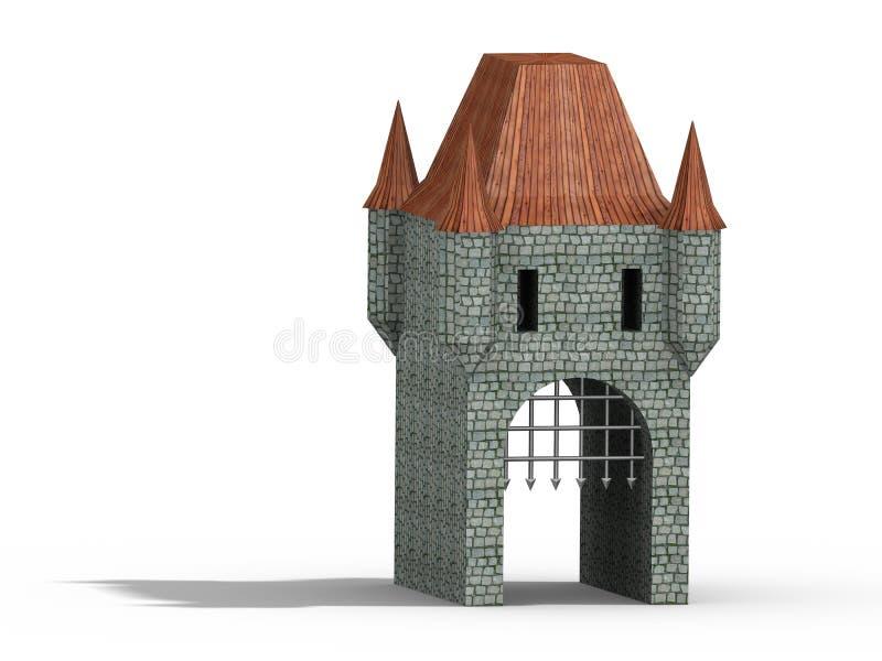 Download Castle gate stock illustration. Illustration of model - 4276997