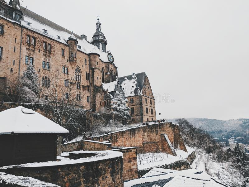 Marburg Schloss royalty free stock image