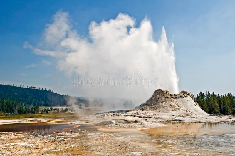 Castle geyser, Yellowstone national park stock photography