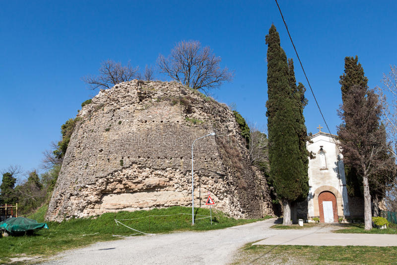 The castle of Giaggiolo royalty free stock photography
