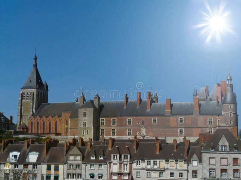 Castle of Gien stock photography