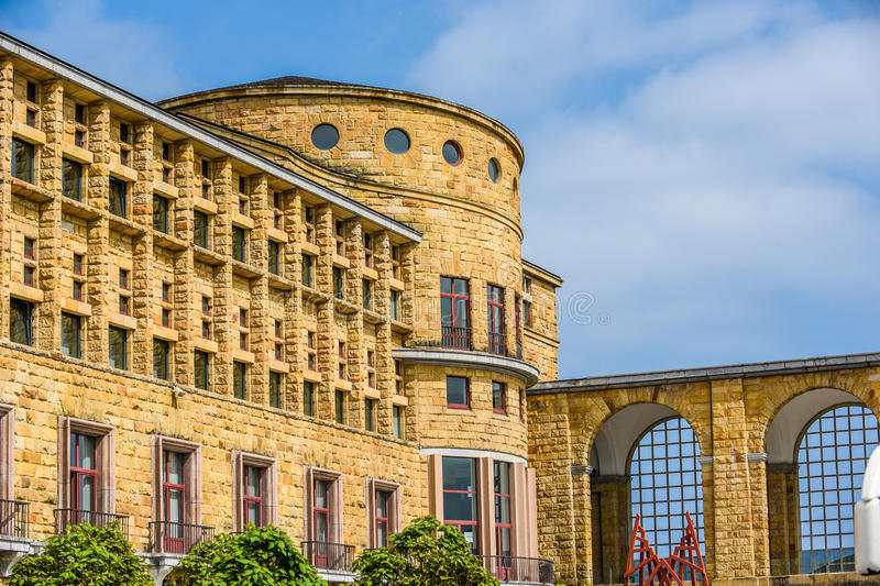 Castle at Gijon Spain. Exterior of a castle at Gijon Spain stock photo