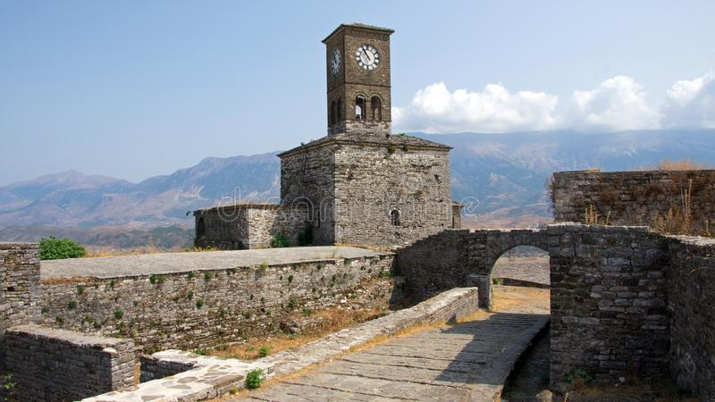 Castle Gjirokastà «ρ στην Αλβανία στοκ φωτογραφία με δικαίωμα ελεύθερης χρήσης