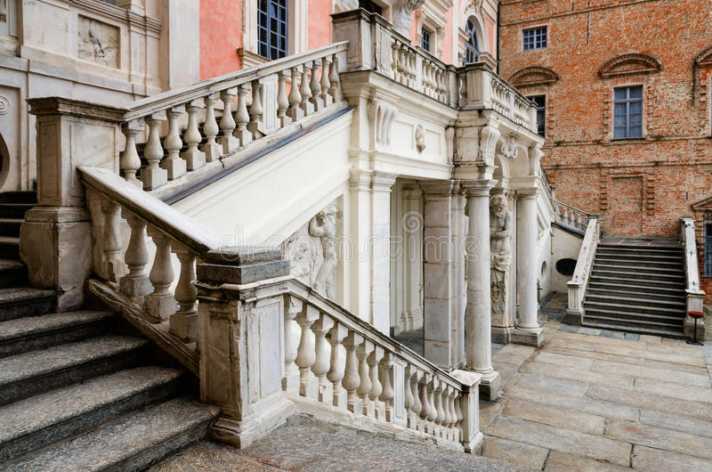 Castle Govone Ιταλία στοκ εικόνες με δικαίωμα ελεύθερης χρήσης