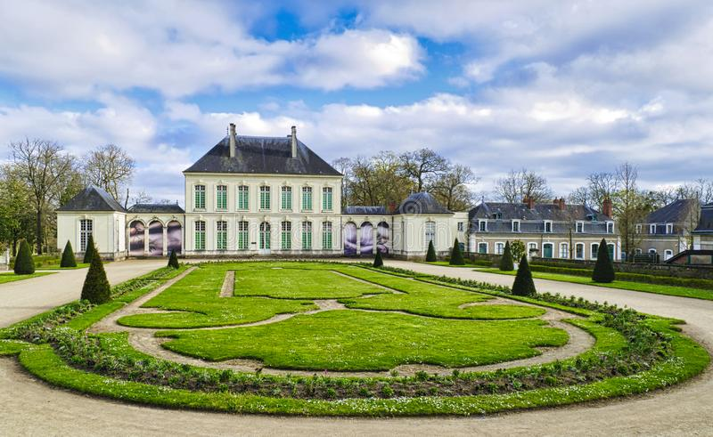 Castle of Grand Blottereauthe in Nantes Brittany France royalty free stock photo
