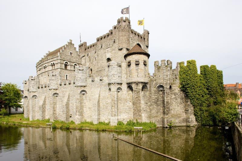 Castle, Gravensteen, Ghent, Flanders, Belgium royalty free stock photos