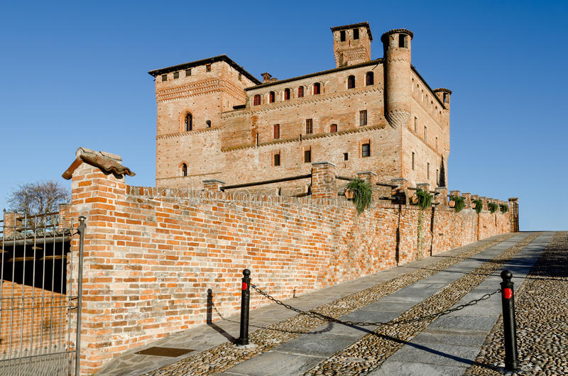 Castle of Grinzane Cavour Italy stock images
