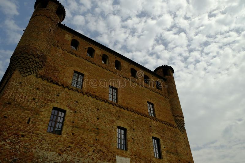 The castle of Grinzane Cavour in the Langhe area of Piedmont stock photo