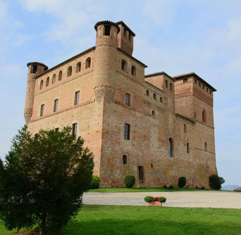 Download Castle of Grinzane Cavour stock image. Image of tourism - 33984257