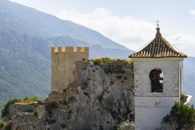 Castle in Guadalest Spain Valencia royalty free stock photo