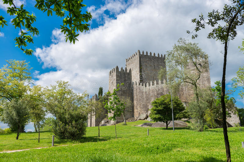 Castle in Guimaraes, northern of Portugal stock photos