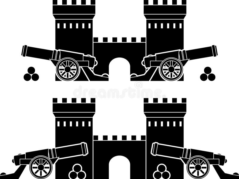 Download Castle And Guns With Kernels Stock Vector - Image: 26537807