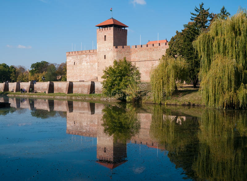 The castle in Gyula, Hungary royalty free stock photos