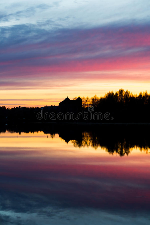 Download The Castle Of Häme In A Sunset Royalty Free Stock Photos - Image: 25568488