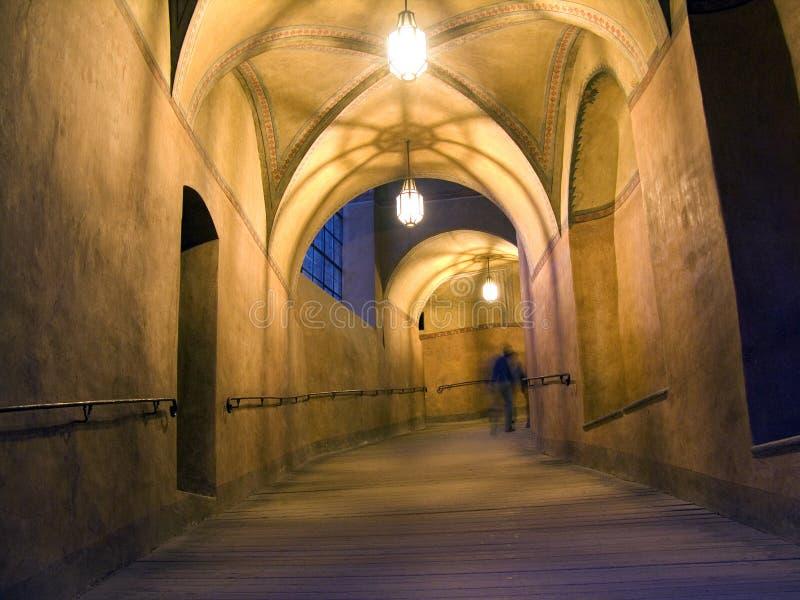 Castle hallway, Czesky Krumlov stock photos