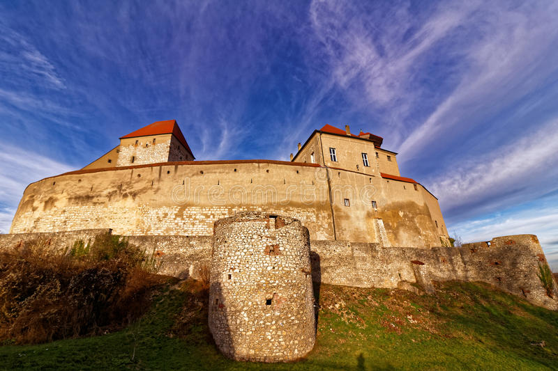 Medieval castle Harburg fall scenery royalty free stock photos