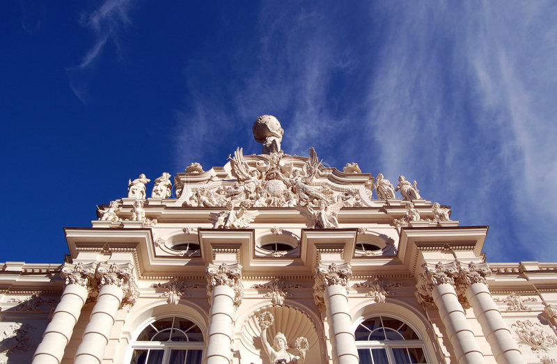 castle hercules linderhof statue στοκ φωτογραφία με δικαίωμα ελεύθερης χρήσης