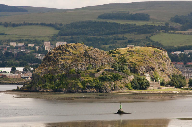 Download Castle in Hiding stock image. Image of dumbarton, glasgow - 10334443