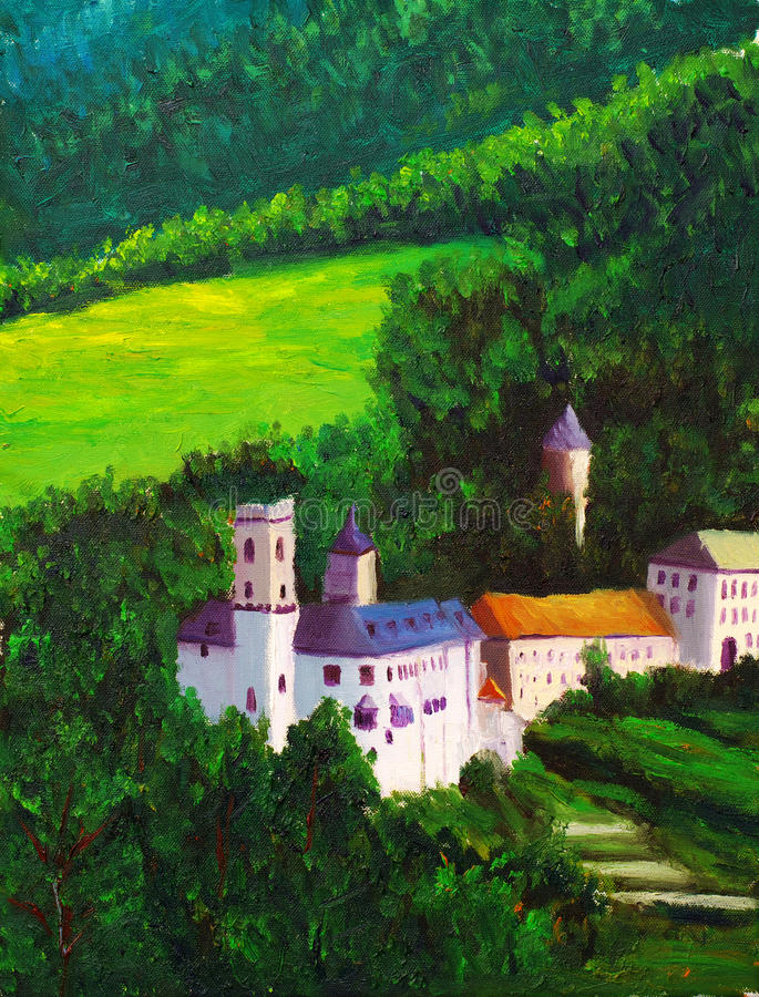 Download Castle on hill stock illustration. Image of outdoors - 12022274