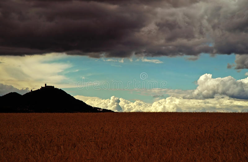 Download Castle on the hill stock image. Image of wheat, cumulus - 25313875