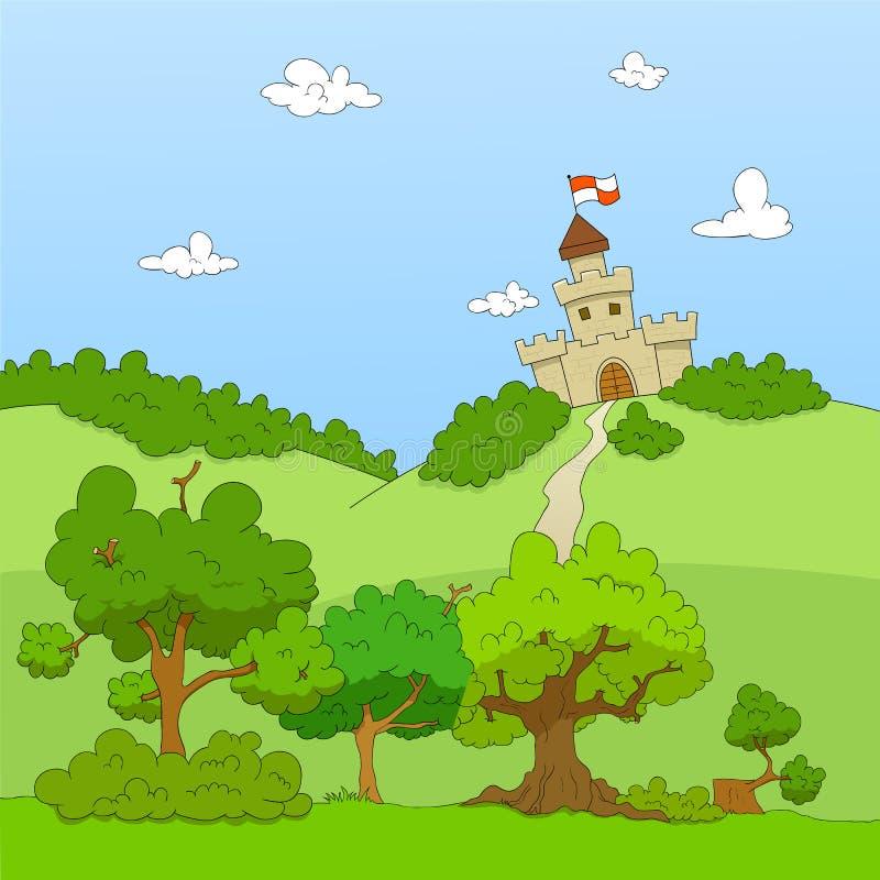 castle hill ilustracja wektor