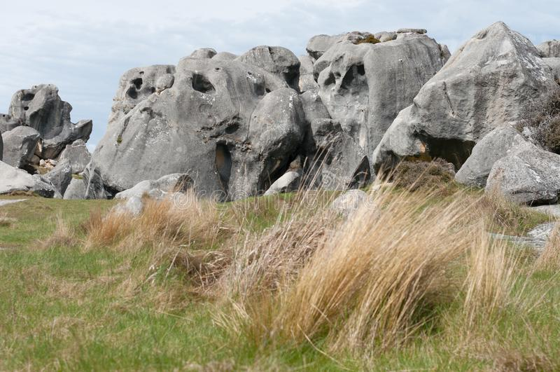Castle Hill, Arthur Pass, Nova Zelândia fotos de stock