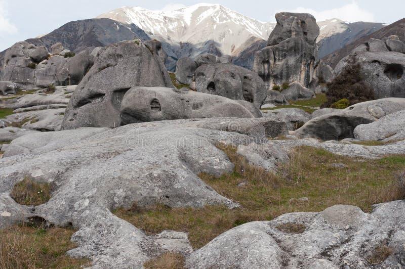 Castle Hill, Arthur Pass, Nova Zelândia fotografia de stock royalty free