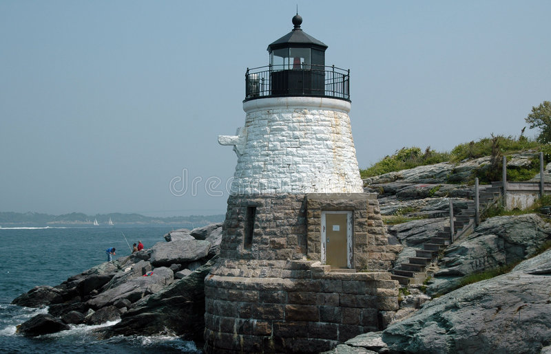 Download Castle Hill Light House,  Newport, RI Stock Image - Image: 1147367
