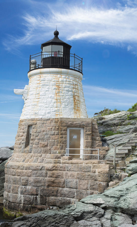 Castle Hill Lighthouse in Newport Rhode Island stock image