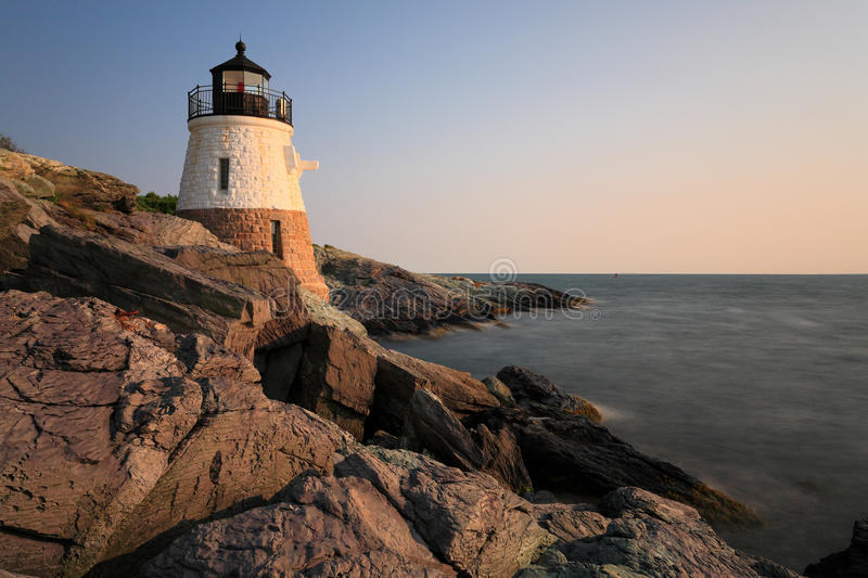 Castle hill lighthouse Newport RI royalty free stock images