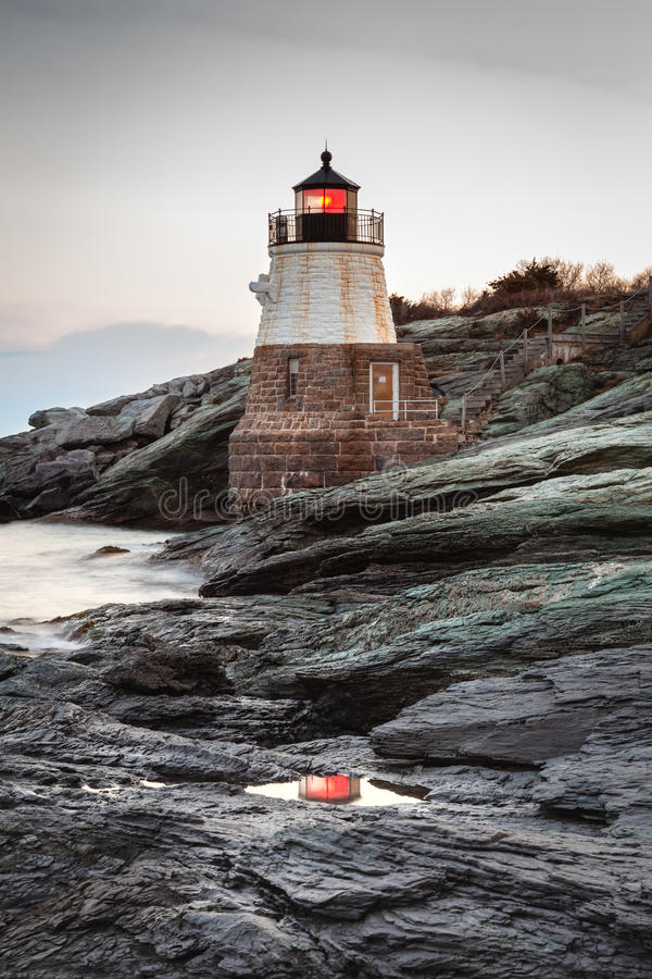 Castle Hill Lighthouse Reflection royalty free stock image