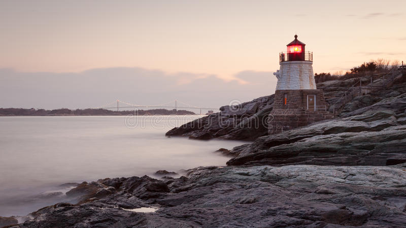 Castle Hill Lighthouse at Sunrise stock photography