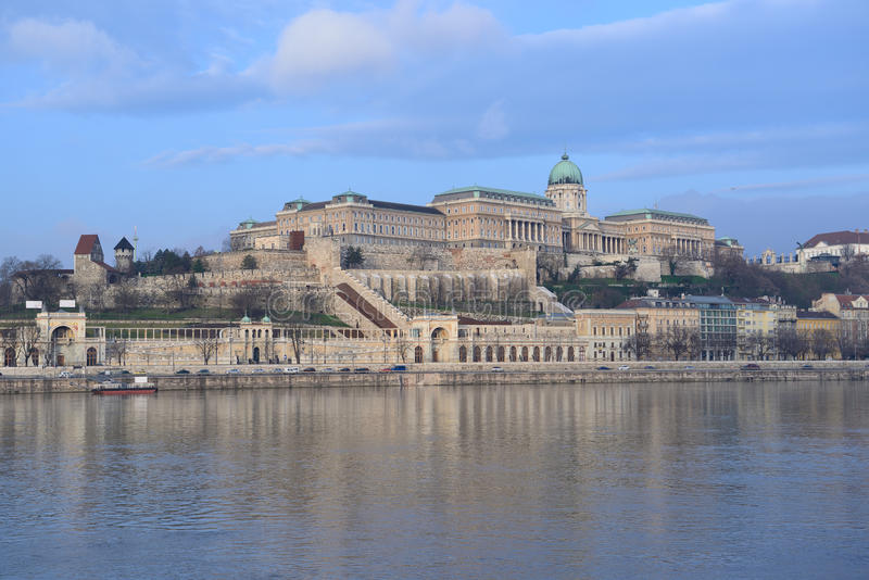 Castle Hill from Pest. Budapest. Hungary royalty free stock photography